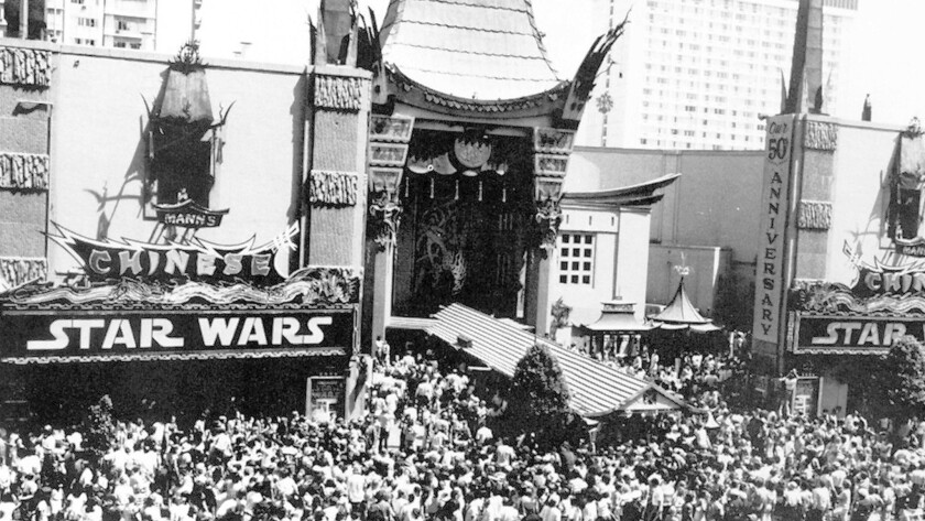 """Mann's Chinese Theater when """"Star Wars"""" opened in May 1977."""