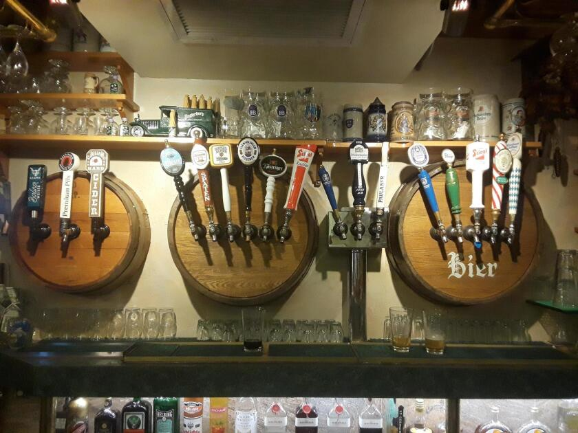 Kaiserhof Restaurant offers a variety of German beers on tap in the bar.