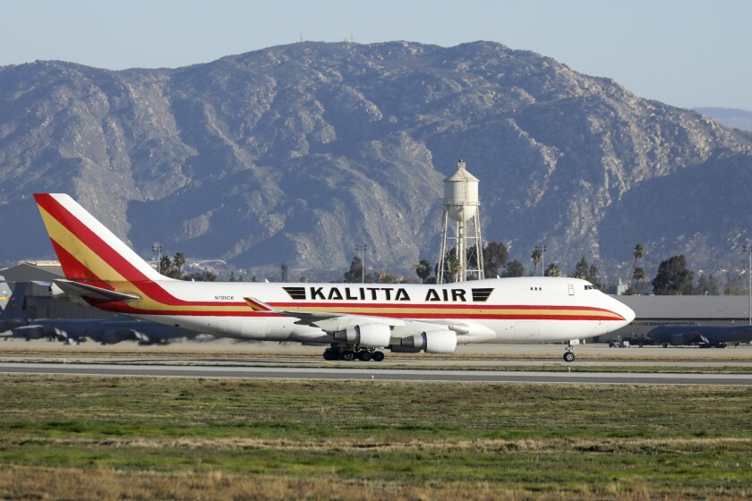 Nearly 200 travelers have been quarantined at March Air Reserve Base in Riverside County.
