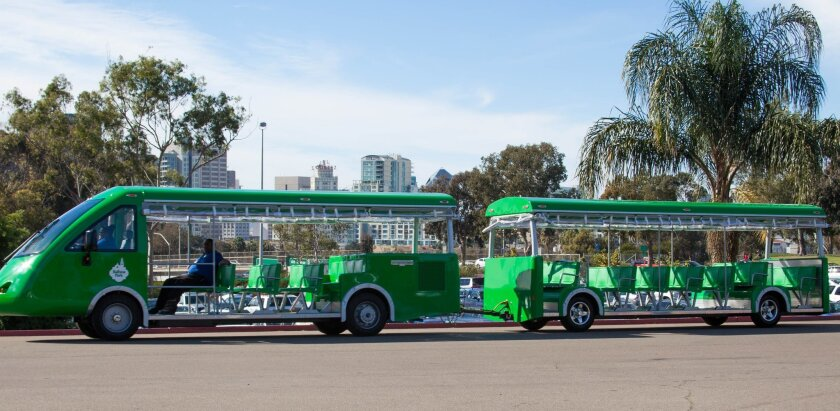 New trams at Balboa Park can accommodate up to 72 persons at one time