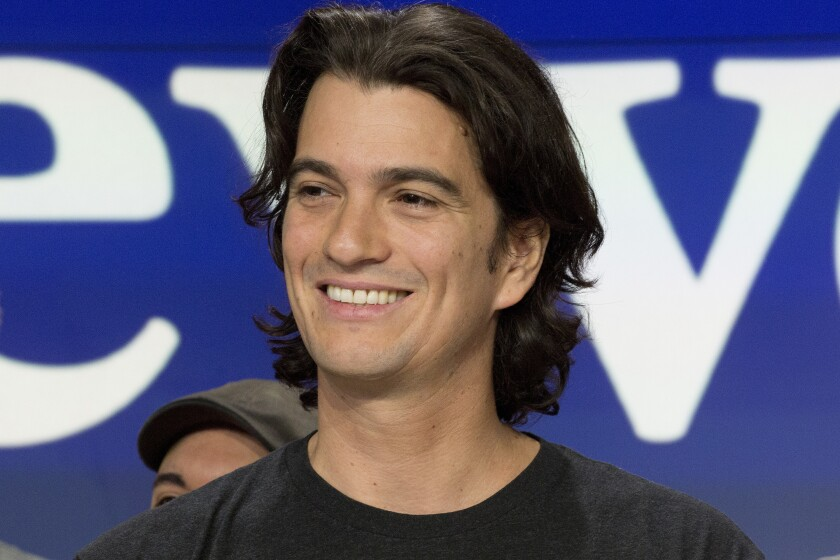 Adam Neumann is WeWork's co-founder and CEO.