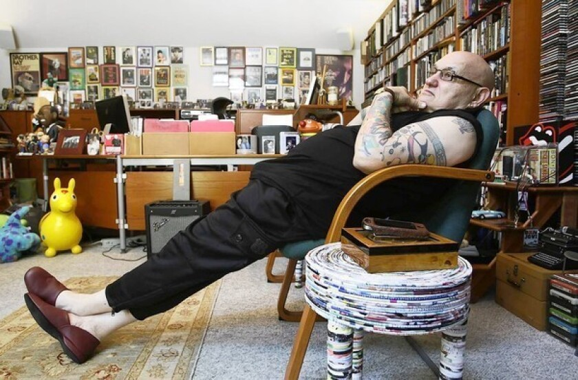 Ghostwriter David Ritz in his Los Angeles home.