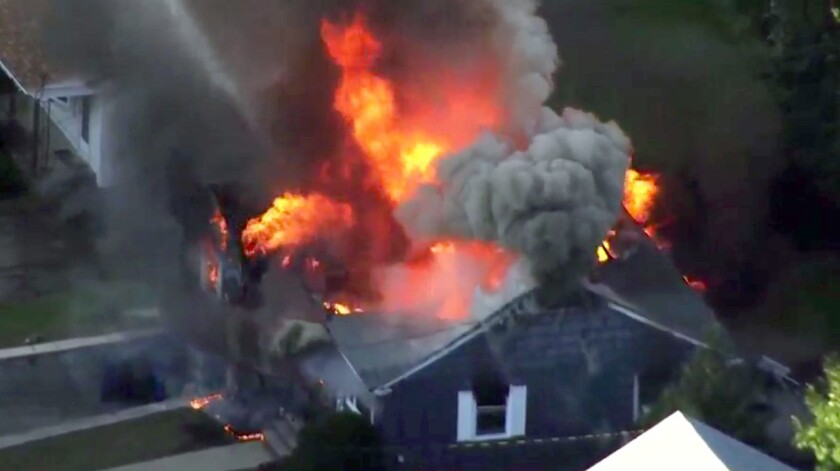 Last month's gas explosions destroyed five houses.