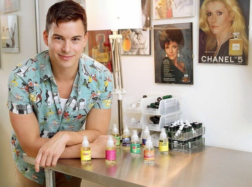 """""""The goal of my perfume was always to put the money inside the bottle rather than outside,"""" Smell Bent founder Brent Leonesio says."""