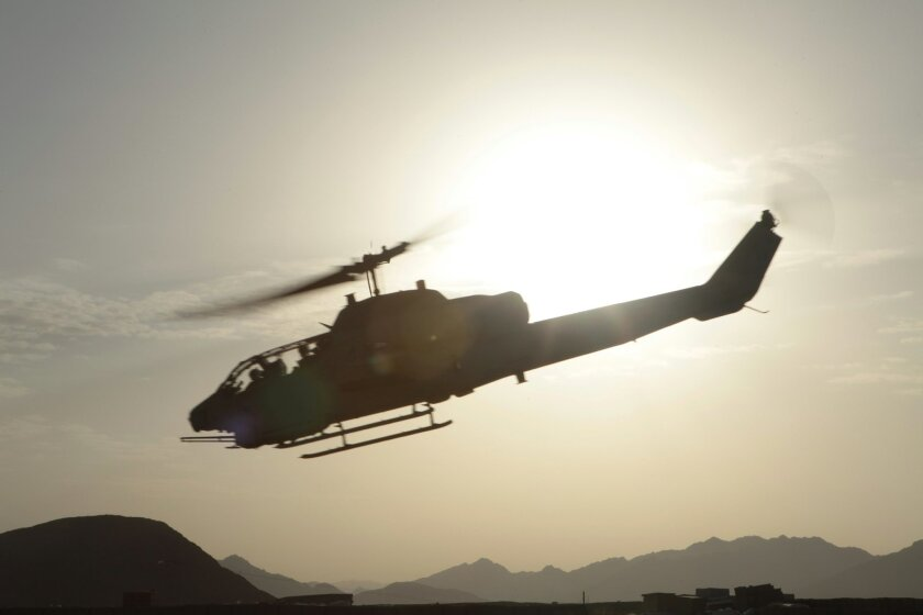 One of the Marine Corps' AH-1W Super Cobra helicopters. / Photo by Pfc. Sean Dennison, U.S. Marine Corps