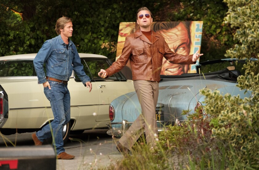 "Brad Pitt and Leonardo DiCaprio in ""Once Upon a Time ... in Hollywood."""