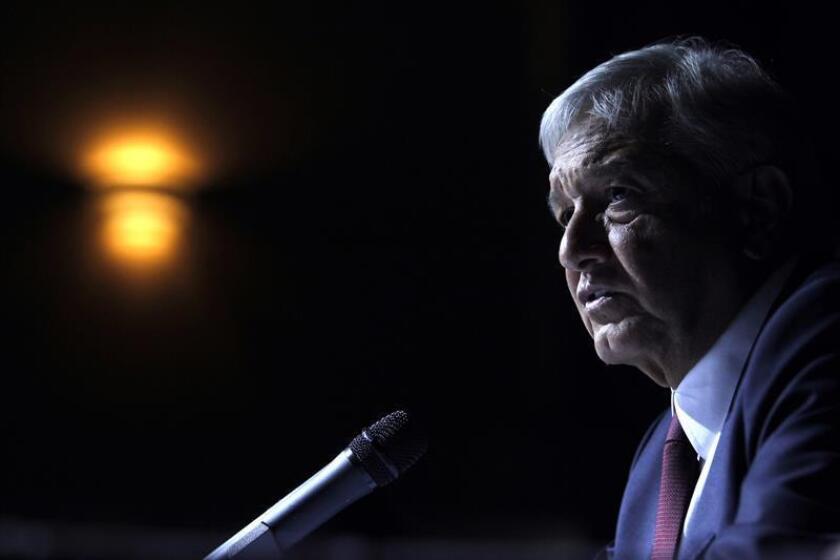 El ganador de las elecciones presidenciales mexicanas, Andrés Manuel López Obrador, ofrece una rueda de prensa en Ciudad de México (México). EFE