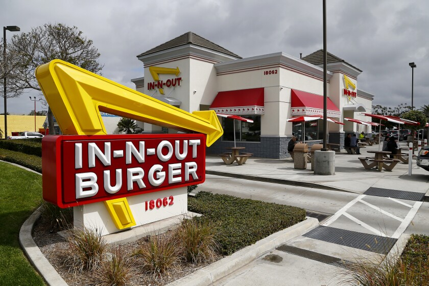 In-N-Out Burger located at 18062 Beach Blvd. in Huntington Beach.