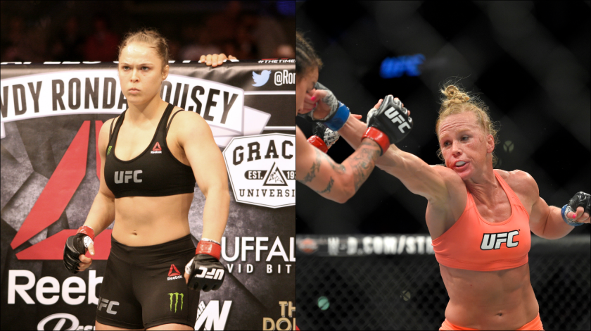 Ronda Rousey, left, will square off against Holly Holm in a women's bantamweight championship fight on Saturday, Nov. 14 in Melbourne, Australia. Both fighters come in with undefeated records.