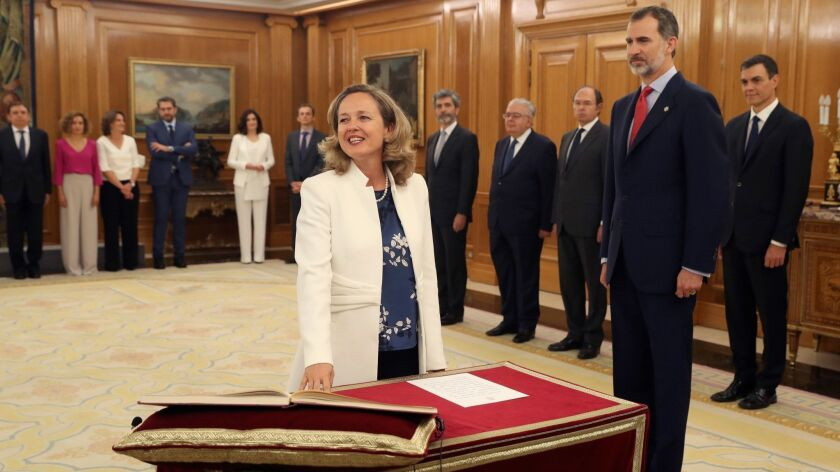 Swearing-in ceremony of new Cabinet, Madrid, Spain - 07 Jun 2018