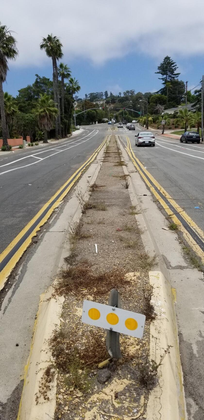 The appearance of means on Nautilus Street could be improved, due to weeds and uneven asphalt.