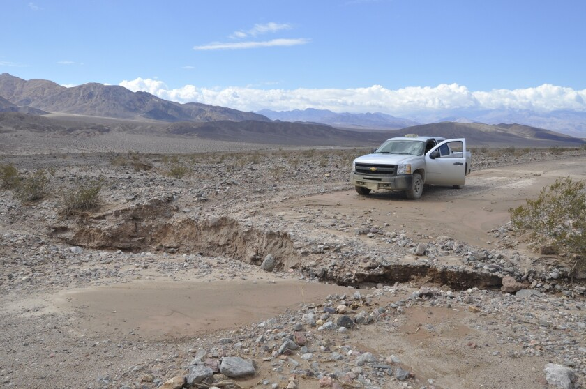 Significant floods in Death Valley National Park closed roads and trapped visitors at the north end of the park.