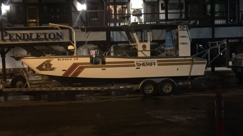 Boat used by searchers looking for missing man