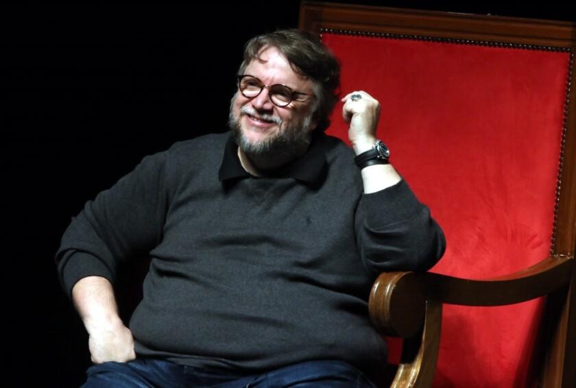 Esta foto fue tomada durante la clase magistral de Guillermo del Toro en el auditorio Telmex.