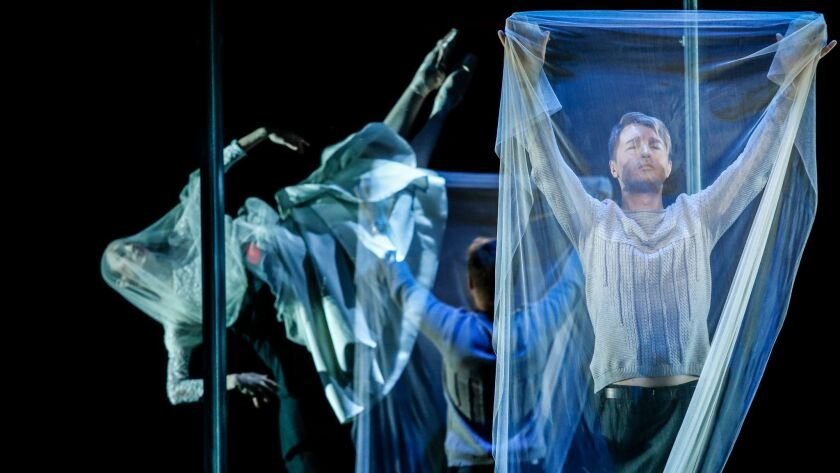 """Maxim Mironov is Orpheus in """"Orpheus and Eurydice,"""" Los Angeles Opera's new collaboration with the Joffrey Ballet, a production choreographed, designed and directed by the legendary John Neumeier."""