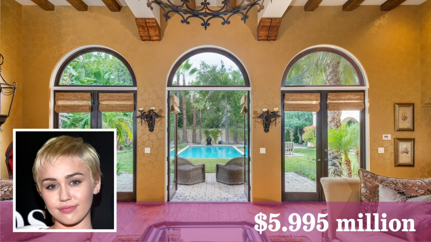 The family home of singer-actress Miley Cyrus is on the market in Toluca Lake at $5.995 million.