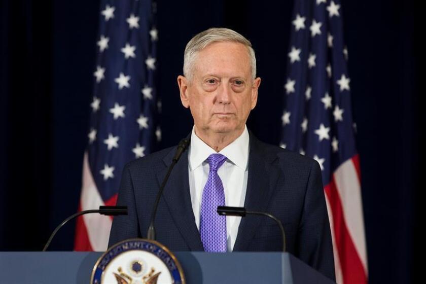 El secretario de Defensa James Mattis habla durante una rueda de prensa. EFE/Archivo