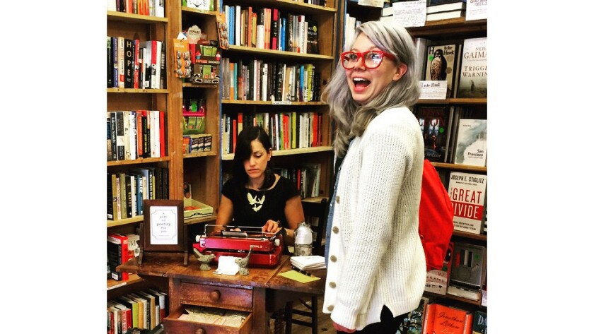 On Independent Bookstore Day, San Francisco's Green Apple Books celebrated with free poetry.