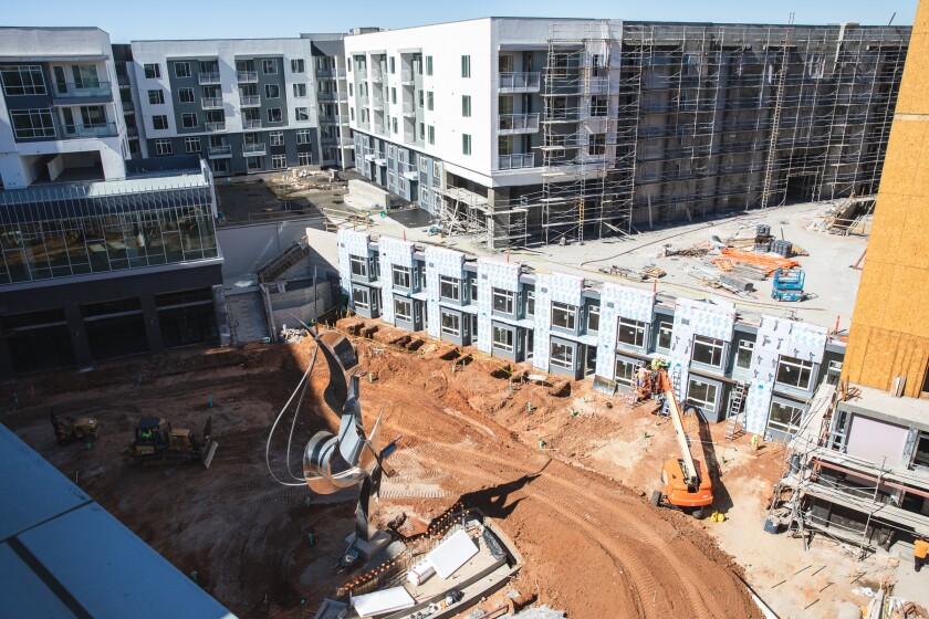 Apartment building construction in Kearny Mesa.