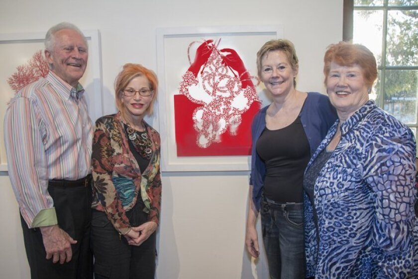 'Coop' Cooprider, Robin Lipman, Kami and Patti Cooprider with Bhavna Mehta's 'How We Remember'