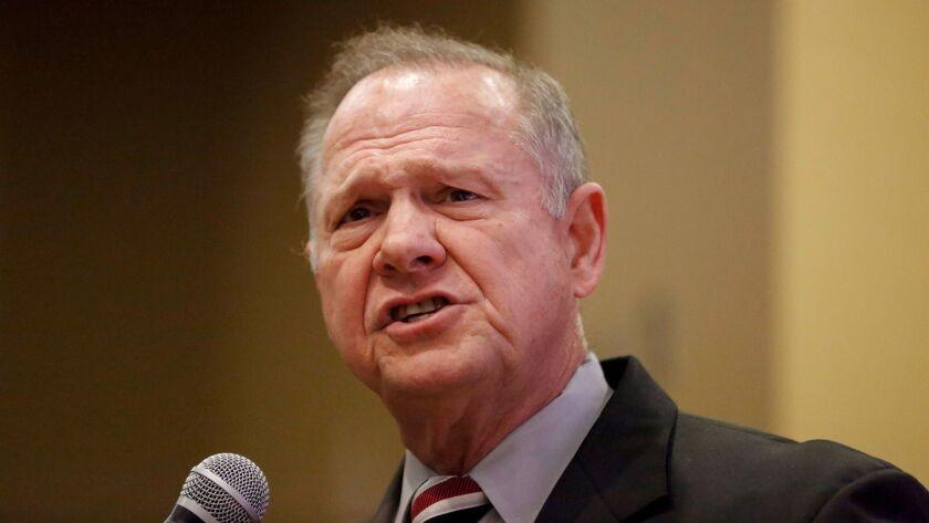 Senate candidate Roy Moore in Birmingham, Ala., on Saturday.