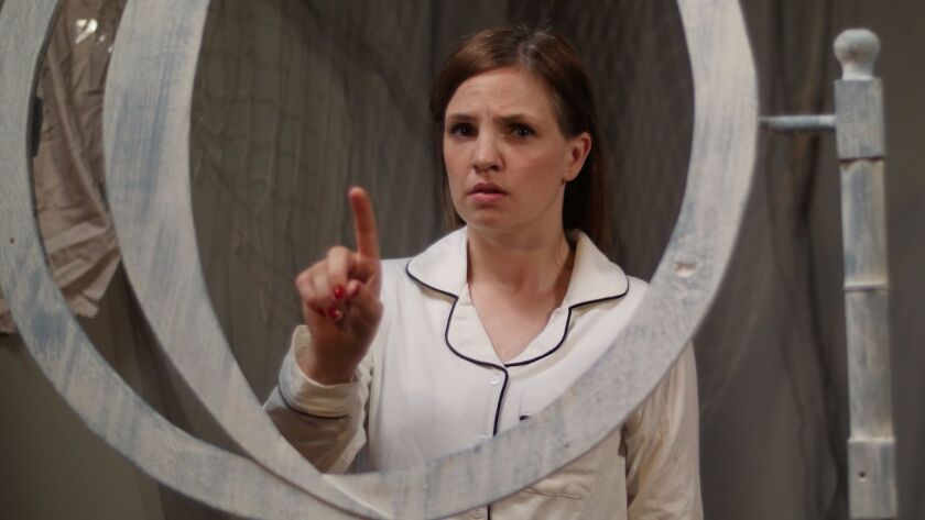 """In """"Any Night"""" at Hollywood's Sacred Fools, Marie Fahlgren plays a sleepwalker afraid that in her tw"""