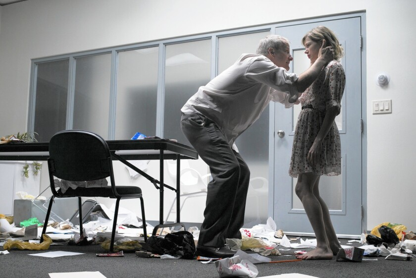 A searing production of David Harrower's unsettling drama with Jeff Daniels and Michelle Williams.
