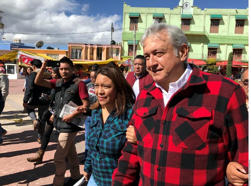 Andrés Manuel López Obrador, líder de Morena, celebró el crecimiento de ese partido en las preferencias electorales.