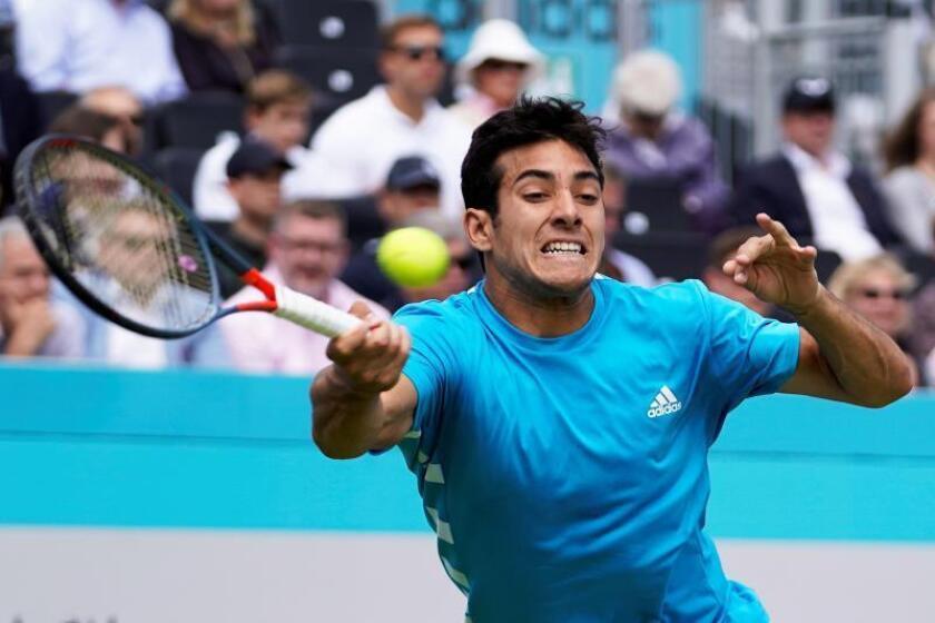 En la imagen, el tenista chileno Cristian Garin. EFE/Will Oliver/Archivo