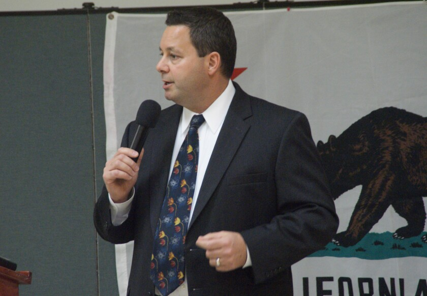 Then-Assemblyman Allan Mansoor in 2014. He has filed paperwork indicating he plans to seek one of the three Costa Mesa City Council seats available in November's election.
