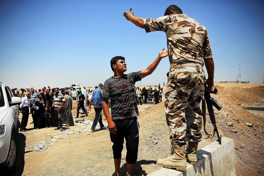 Displaced Iraqis in the north
