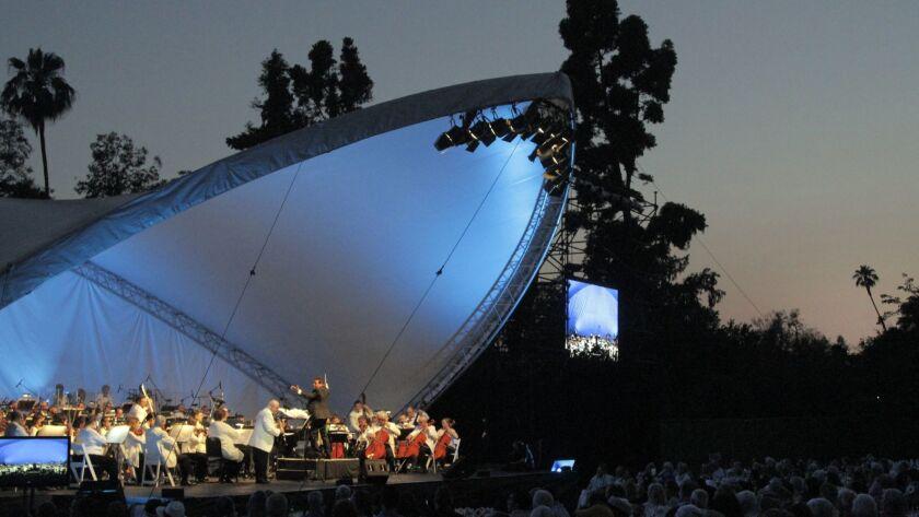 ARCADIA CA. JUN. 01, 2013. Pasadena Pops Orchestra performance at the Arboretum & Botanic Garden in