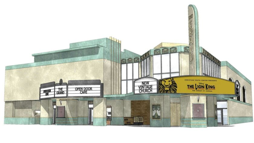 Current conceptual rendering of what the new Ritz Theater complex in Escondido would look like. The