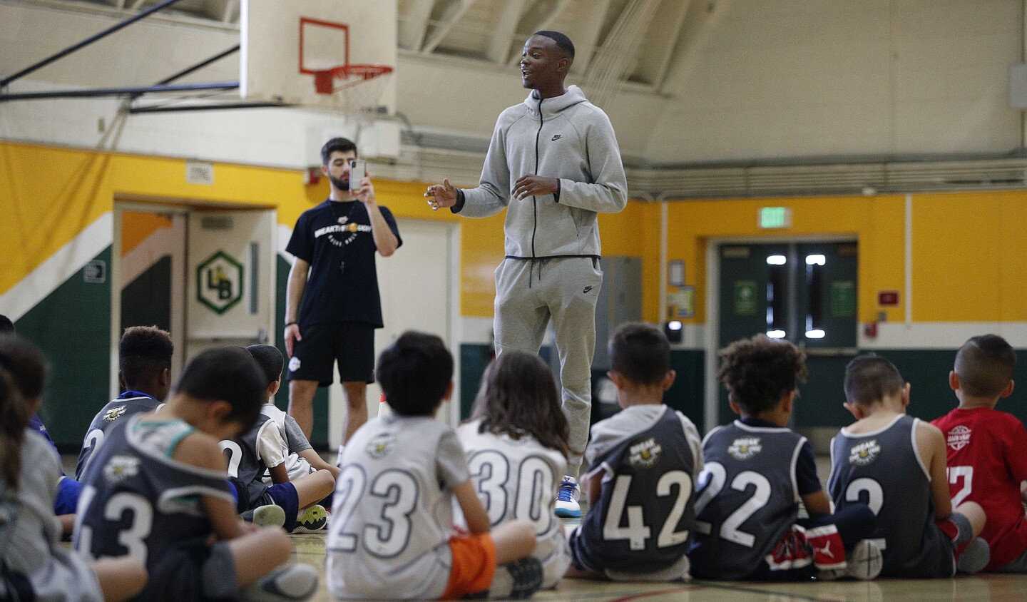 Photo Gallery: First ever Breakthrough Sports Basketball Camp has a special guest