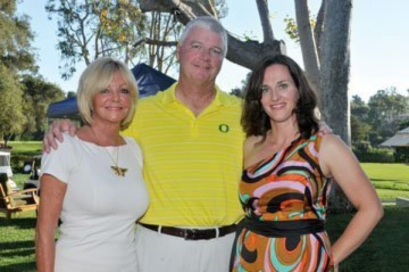Sandy Redman, Lucky Duck Foundation founders  Pat  Stephanie Kilkenny. Photos by Rob McKenzie