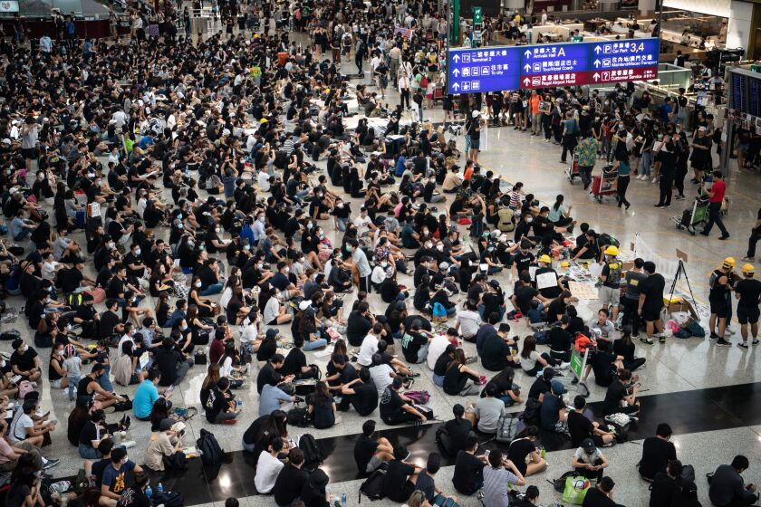 Protests at Hong Kong International Airport