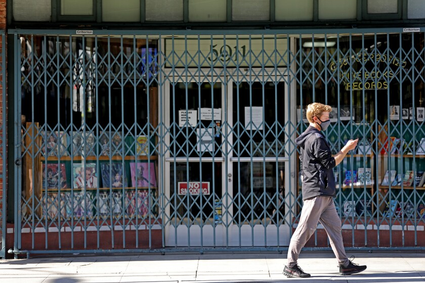 Counterpoint Records & Books opened 40 years ago to sell used vinyl records and books. Today it's shuttered, waiting for federal help so it can ride out coronavirus stay-at-home restrictions.