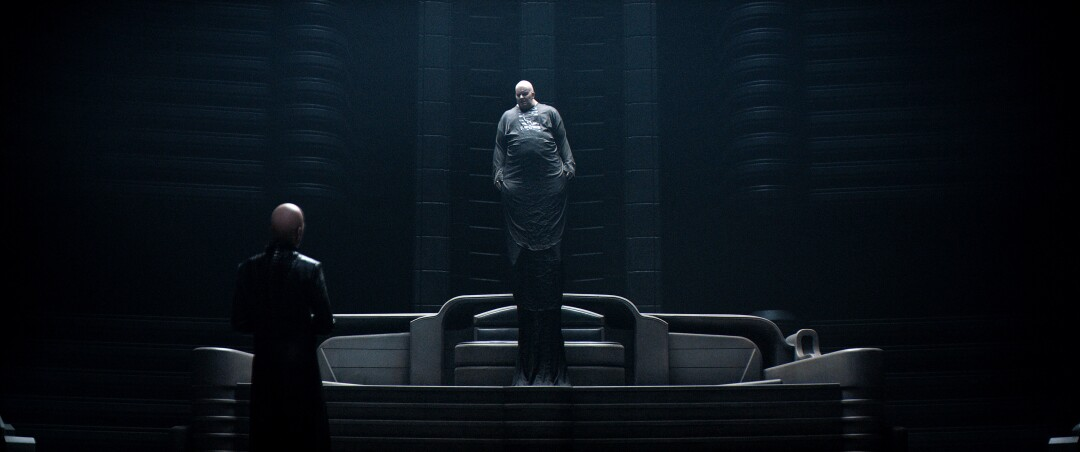 "Stellan Skardgard as Baron Harkonnen in ""Dune."""