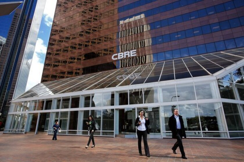 CBRE Group just opened its new headquarters and occupies the top two stories of a 26-story building on Hope Street in downtown Los Angeles.
