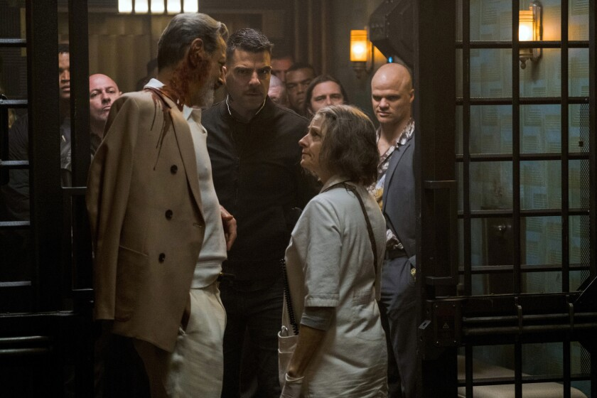 Jeff Goldblum, Zachary Quinto and Jodie Foster in HOTEL ARTEMIS to be released by Global Road Entertainment.
