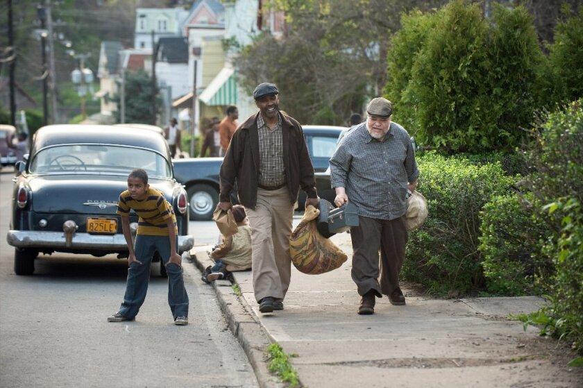 """Denzel Washington and Stephen McKinley Henderson in """"Fences."""""""