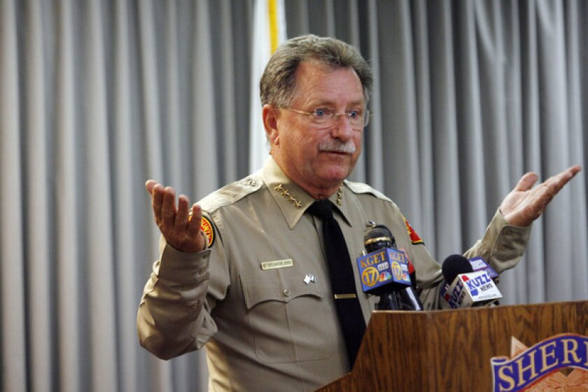 Kern County Sheriff Donny Youngblood holds a news conference on the beating of David Sal Silva.