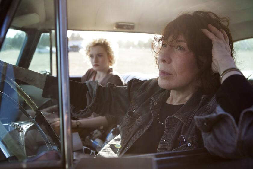 "Lily Tomlin, right, and Julia Garner in ""Grandma."""