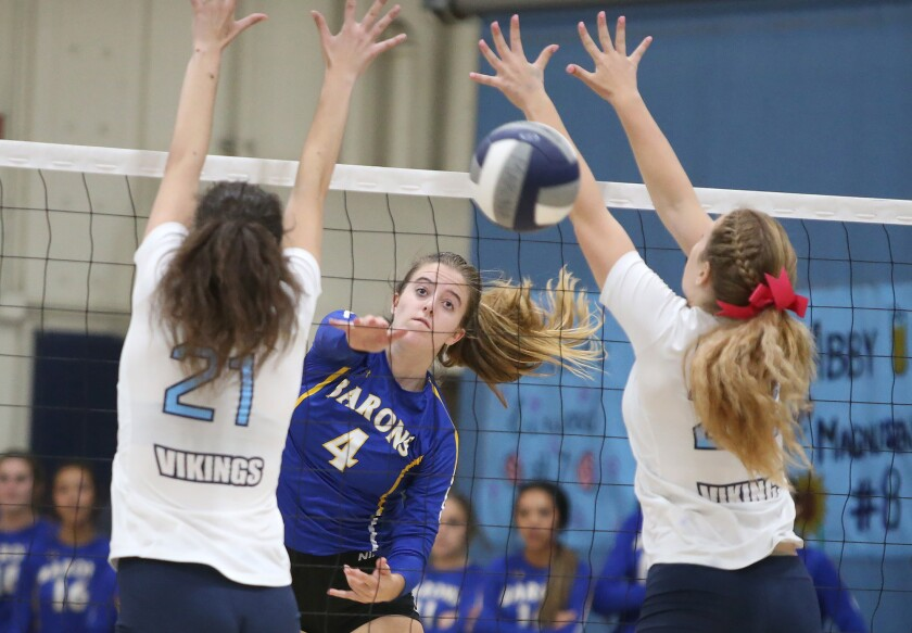Fountain Valley girls' volleyball sweeps Marina, earns second place in Wave League