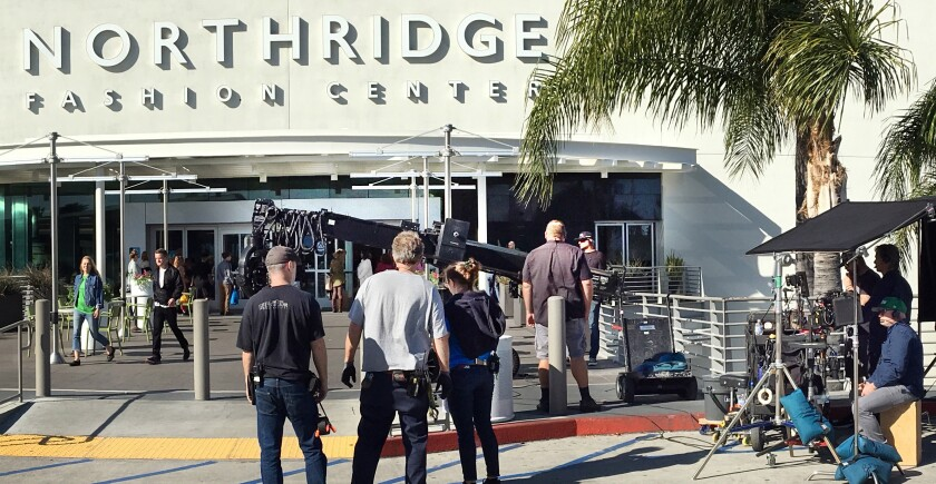 "Filming for Netflix movie ""The Prom"" at Northridge Fashion Center"