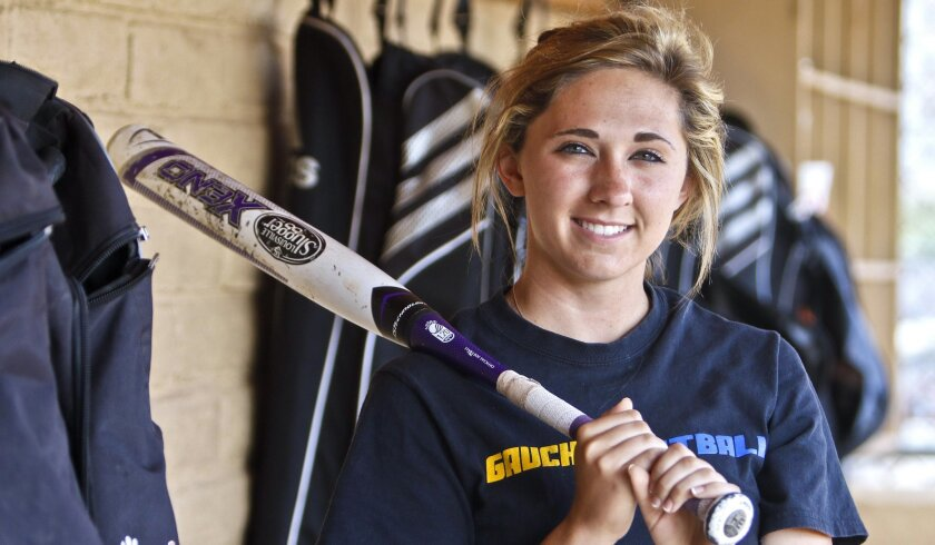 After hitting .402 as a sophomore and .307 as a junior, Escondido senior Kayla Krantz is batting .451 this year.