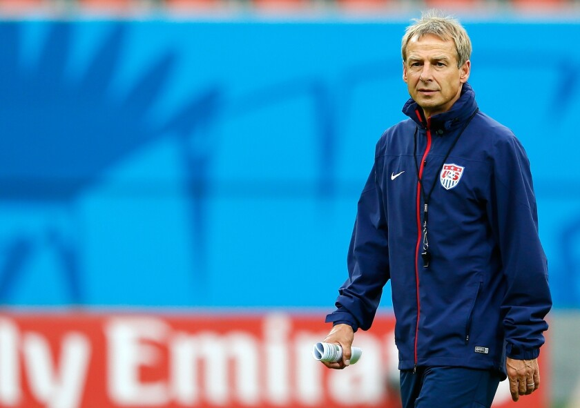 U.S. Coach Juergen Klinsmann's team will be headed to the next round of the World Cup if they can secure a win Sunday over Portugal.
