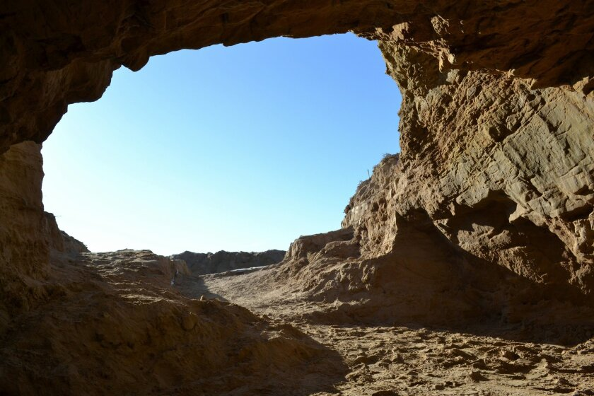 A cave on San Nicolas Island where some American Indian artifacts have been found. / photo courtesy of Tom Holm