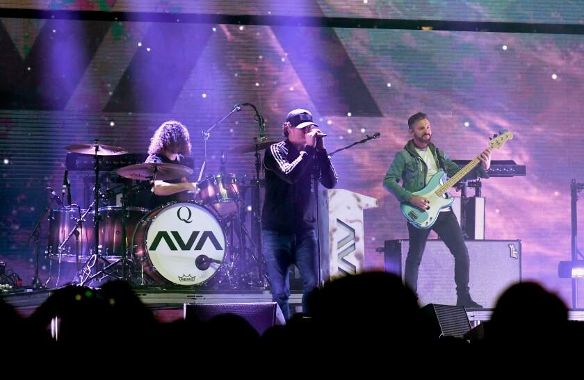 Ilan Rubin, Tom DeLonge and Matt Rubano of Angels and Airwaves