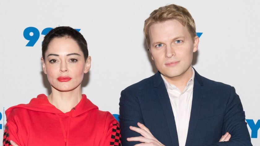 92Y: Rose McGowan And Ronan Farrow